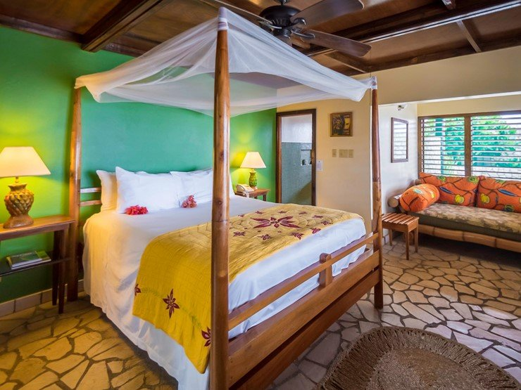 Rockhouse Hotel Bed on Jamaica