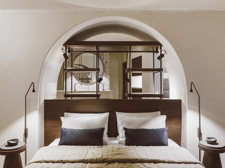 Vora Bed on Santorini