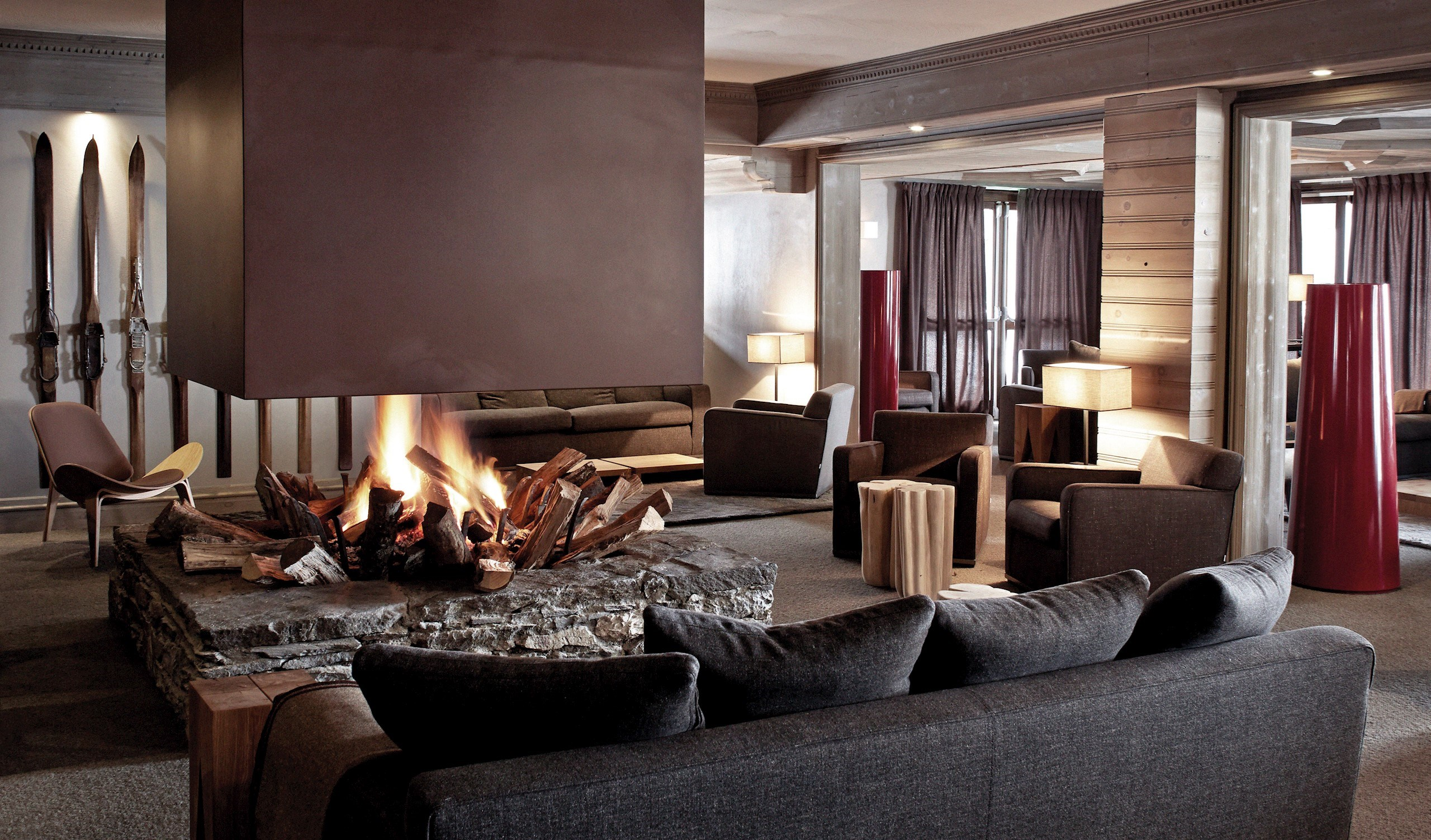 Hotel Le Fitz Roy Living Room in Val Thorens
