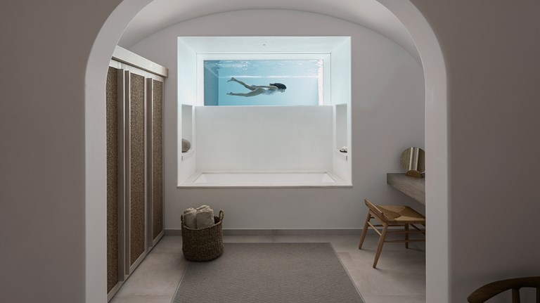Design Series K Studio Canaves Oia Epitome Bathroom Pool View 06 003