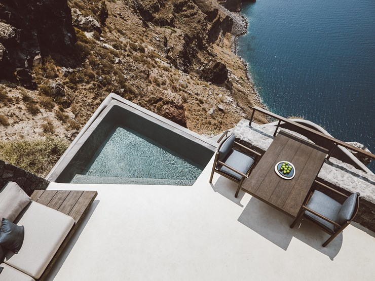 Vora Pool on Santorini