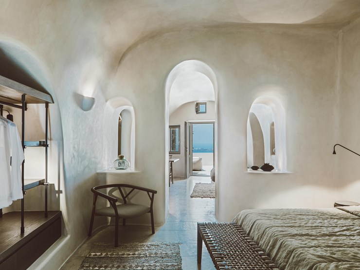 Vora Interior on Santorini