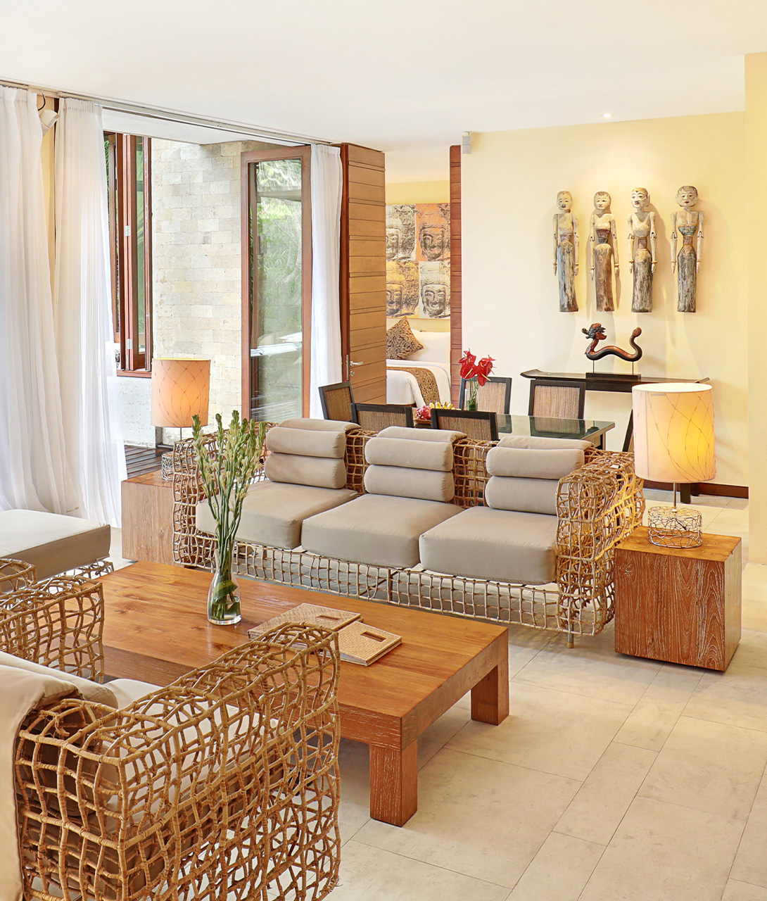The Elysian Boutique Villa Hotel Chairs in Bali